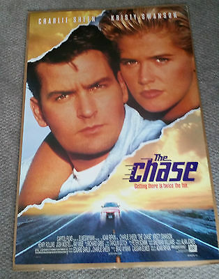 The Chase (1994) Original One Sheet Movie Poster 27x40 Charlie Sheen