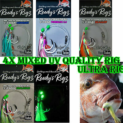 5 Snapper Snatchers Rigs Pick Hook Rig Size Tied Live Baits Paternoster Running