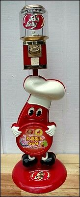 Htf Figural Jelly Belly Bean Gumball Vending Machine Gold Seaga 25 Cent W Stand
