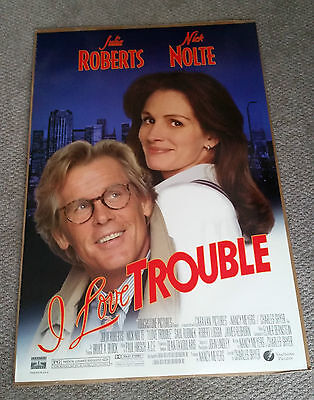 I Love Trouble (1993) Original One Sheet Movie Poster 27x40 Julia Roberts DS