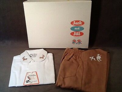 Vintage 1945 Boys Clothing Toddler Shirt And Pants Featuring Poodles- New Unused