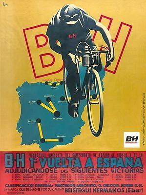Vintage Tour of Spain Cycling Poster A3 Print