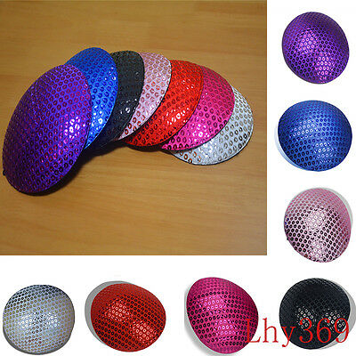 7 Color Sequin Circle Round Millinery Hat Fascinator Headpieces Base Craft B044