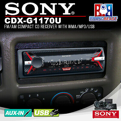 Sony Cdxg1170u 220w In-car Cd/mp3 Media Receiver- Free Shipping Cdx-g1170u