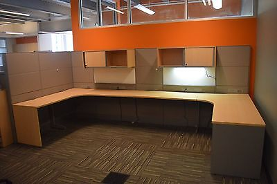 8 Fully Loaded Teknion Leverage Office Cubicles For Sale
