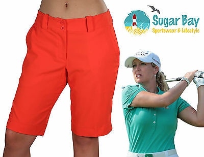 Nike GOLF Ladies Modern Rise Silk-Effect Shorts with Hipster Cut  Bright Red