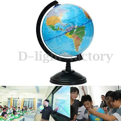 8-32cm Globe World Atlas Map & Swivel Stand Geography Educational Toy Kids Gift