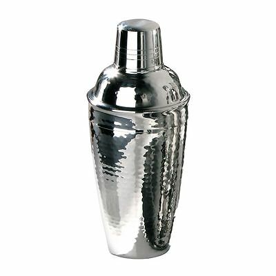 Cocktail Shaker, Hammered Effect Stainless Steel, 0.5Ltr