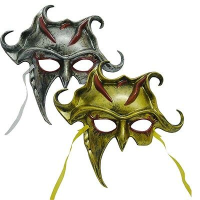 Warrior Roman Greek Silver Gold Sun God Venetian Masquerade Men's Half Face Mask