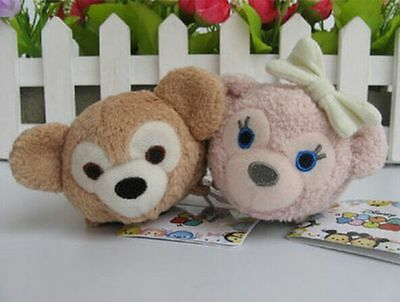 2 Styles Hot Disney TSUM TSUM Duffy ShellieMay Teddy Bear Plush Toys With Chain