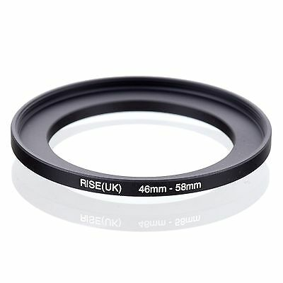 RISE(UK) 46-58mm 46-58 Step-Up Metal Lens Adapter Filter Ring Camera Adapter