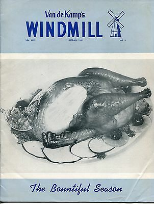 "Vintage VAN DE KAMP'S ""WINDMILL"" Employee Magazine - October 1955"