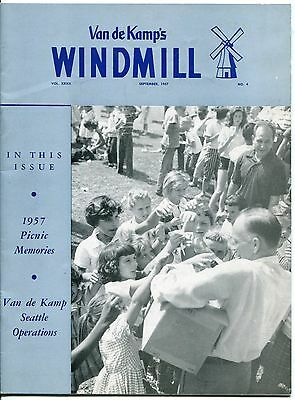 "Vintage VAN DE KAMP'S ""WINDMILL"" Employee Magazine - September 1957"