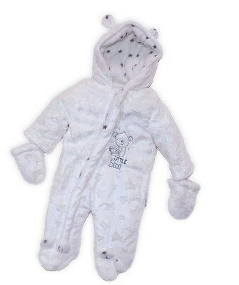 Luxury Neutral Teddy Star Design Furry Baby Pram Suit Snowsuit by Nursery Time