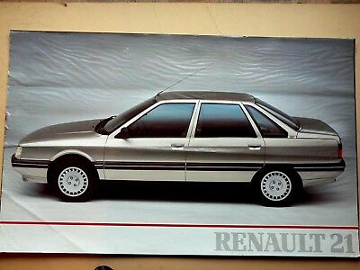 Affiche  Ancienne    RENAULT   21  Poster R 21