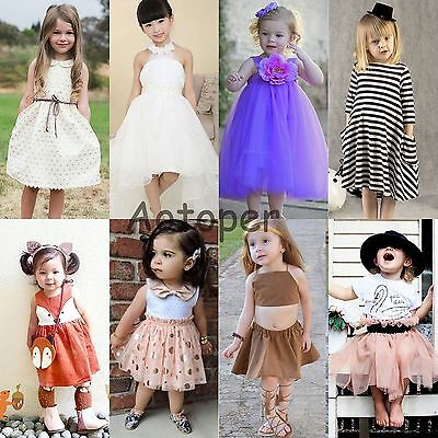 Flower Girl Summer Princess Dress Kid Party Pageant Wedding Tutu Dresses Clothes