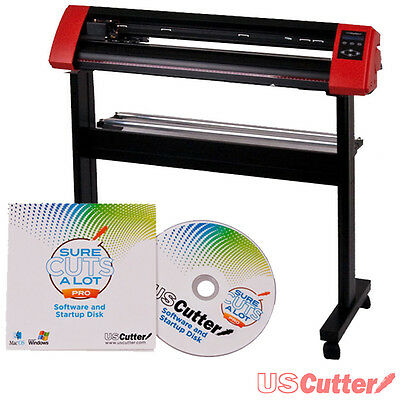 "USCutter 31.5"" LaserPoint II Vinyl Cutter Contour Cutting w/ Stand & SCAL Pro"