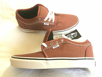 Vans Chukka Low (red/washed canvas) Skateboard Schuhe shoe off the wall 1966
