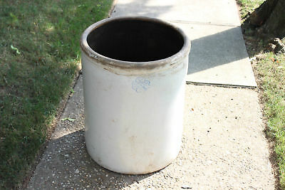Antique 30 Gallon Stoneware Crock-Marked-Very Large & Heavy-107LBS-Country Decor