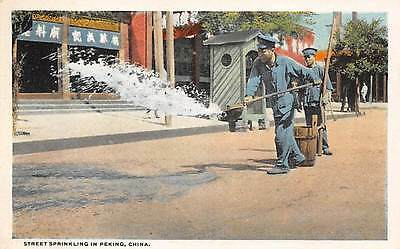 PEKING, CHINA, WORKERS CLEANING THE STREETS, CAMERA CRAFT CO PUB, c. 1915-30