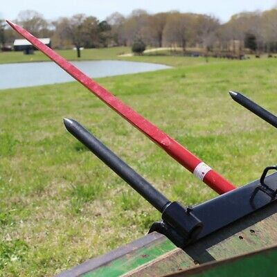 "Titan Bucket Hay Bale Spear Universal Attachment HD 43"" spike stabilizer spears"