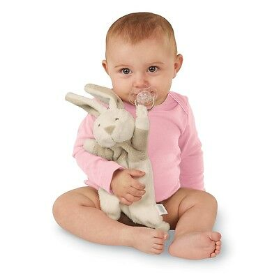 Mud Pie MH6 Easter Baby Girl / Boy Bunny Pacy Pacifier Clip Cuddler 2112291