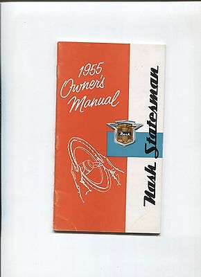 NASH statesman  owner's manual 1955 / notice d'entretien d'epoque
