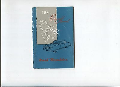 NASH Rambler  owner's manual 1952 / notice d'entretien d'epoque