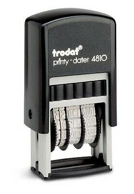 Trodat 4810 Mini Date Stamp, Self-inking Dater, 3mm Type Size with BLACK INK