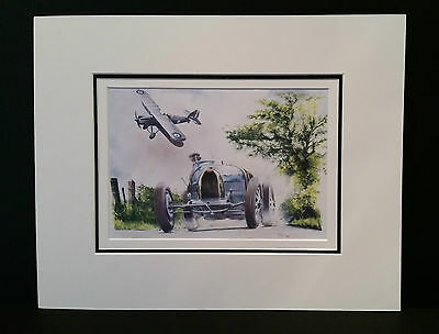 Bugatti Type 35 & Hawker Hector by Bob Murray Open Edition Print Mounted