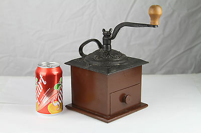 VTG Coffee Mill Iron and Wood Grinder