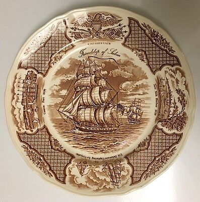 "Alfred Eakin England Fair Winds The Friendship of Salem 10.5"" Dinner Plate EUC"