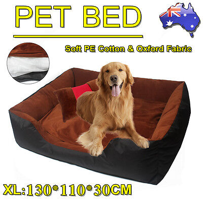 Dog Bed Cat Pet Home Bed - Heavy Duty Futon Mat Cushion - Extra Pillow XL Coffee