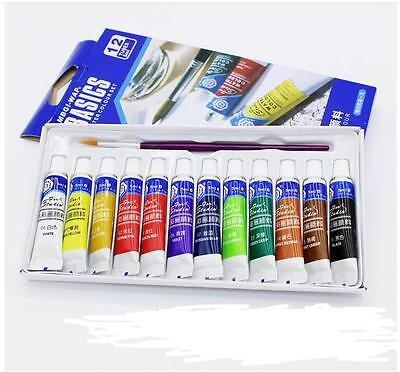 Free Paint Brush Draw 12 Color Painting Water 5ml  Color Set Paint Tube
