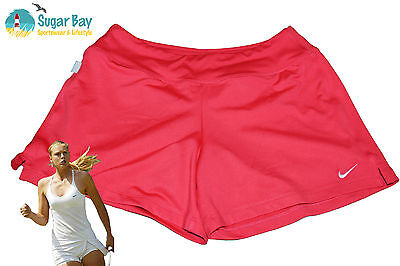Nike DriFit Stay Cool Ladies TENNIS Shorts with inner Shorts Strawberry Pink S