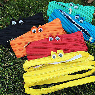 Animal Eyes Style School Pencil Stationery Box Storage Bag Stationery Cases Cool