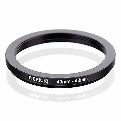 RISE(UK) 49-43MM 49 MM- 43 MM 49 to 43 Step Down Ring Filter Adapter