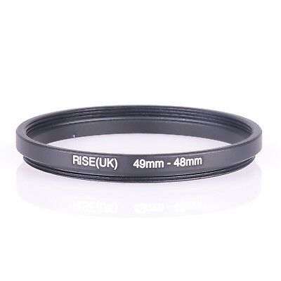 RISE(UK) 49-48MM 49 MM- 48 MM 49 to 48 Step Down Ring Filter Adapter