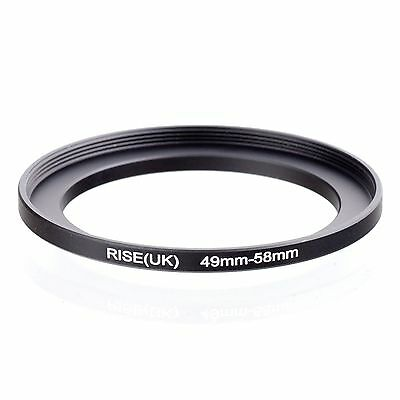 RISE(UK) 49-58 MM 49 MM- 58 MM 49 to 58 Step Up Ring Filter Adapter
