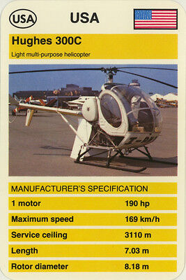 Single Vintage Game Card: Hughes 300C (Helicopter)