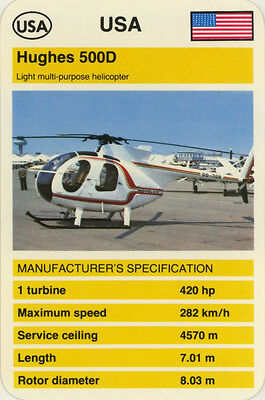 Single Vintage Game Card: Hughes 500D (Helicopter)