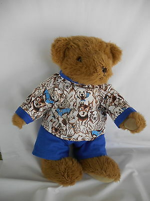 Handmade toy bear clothes (Pyjamas Set) to fit large 43cm bear with 36cm waist