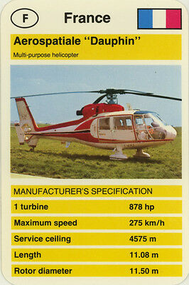"Single Vintage Game Card: Aerospatiale ""Dauphin"" (Helicopter)"