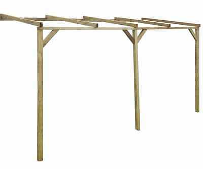 Pergola Garden Wooden Structure Outdoor Patio Sturdy Pine Wood Rot Resistant
