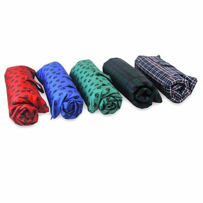 TARTAN - WATERPROOF TRAVEL PET MAT. Portable Cover for Your Animal Protector Dog