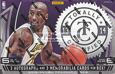2013-14 Panini Totally Certified Nba Basketball Factory Sealed Hobby Box New Wow