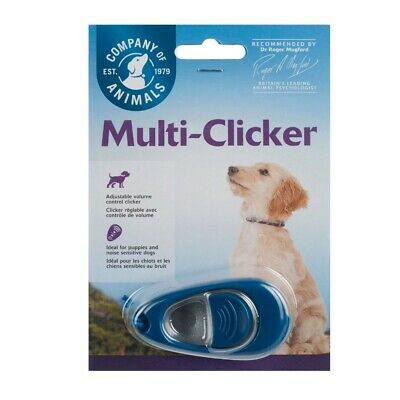 Clix Multi Clicker with Volume Control Dog Puppy Training - Free Guide included