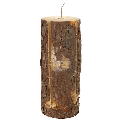 Large 50cm Wooden Fire Log Torch Outdoor Garden Camping BBQ Swedish Light Candle