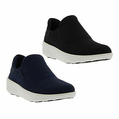 14da85ac544 Fitflop Loaff Sporty Slip On Sneakers Womens Black Blue Trainers Shoes Size  4-8