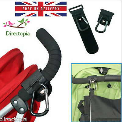 2 X Universal Buggy Pram Baby Pushchair Stroller Shopping Bag Clip Hook SL